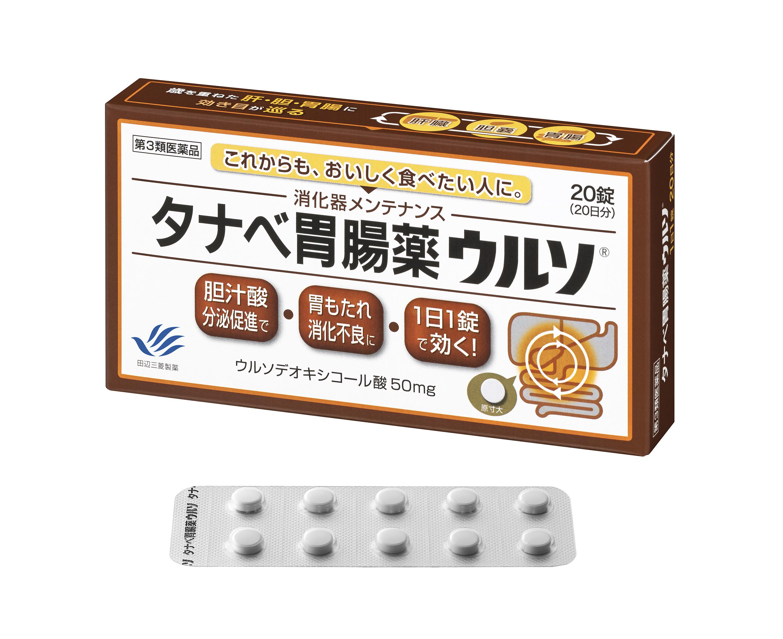 タナベ胃腸薬ウルソ20錠
